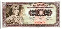 Yougoslavie 1000 Dinara  - Ouvrier - 1963