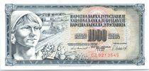 Yougoslavie 1000 Dinara Femme avec fruits - 1981