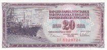 Yougoslavie 20 Dinara - Navire à quai - Valeur faciale - 1978