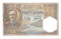 Yougoslavie 50 Dinara Alexandre I - 01-12-1931 Série M.0978