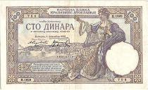 Yugoslavia 100 Dinara - Seated Woman - 1929