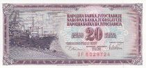 Yugoslavia 20 Dinara - Dockside - Face value - 1978