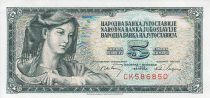 Yugoslavia 5 Dinara - Farm woman - Face value - 1968
