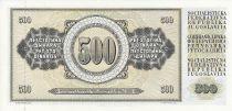 Yugoslavia 500 Dinara - Nikola Tesla - Face value - 1981