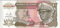 Zaïre 1 Nv Likuta, Pdt Mobutu - Monument - 1993