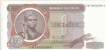 Zaire 1 Zaire 1981 - Pdt Mobutu, Factory, Tusk