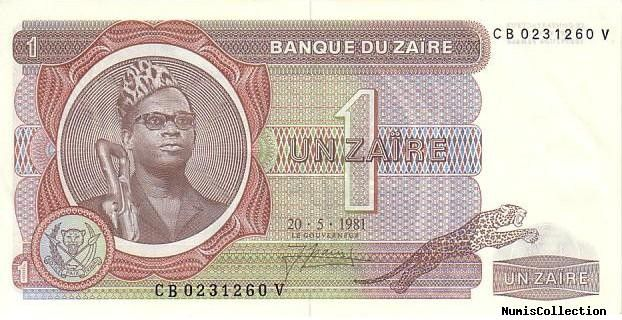 Zaire 1 Zaire Pdt Mobutu - Pyramid - 1981