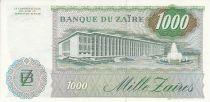 Zaïre 1000 Zaires - Président Sese Seko Mobutu - Immeuble - 1985