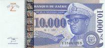 Zaire 10000 Nvx Zaires -  President Sese Seko Mobutu - Face value - 1995