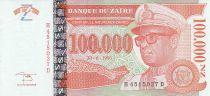 Zaire 100000 Nvx Zaires -  President Sese Seko Mobutu - Face value - 1996