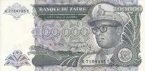 Zaïre 100000 Zaires -  Président Sese Seko Mobutu - Coupole - 1992