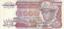 Zaire 2000 Zaire - President Sese Seko Mobutu - Pesca tradicional - 1991
