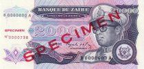 Zaire 20000 Zaire Pdt Mobutu, leopard - Bank of Zaïre