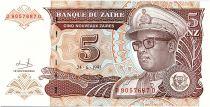 Zaire 5 Nvx Zaires Zaires, Pdt Mobutu - Domed Building - 1993