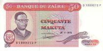Zaïre 50 Makuta Pdt Mobutu - Pêche traditionnelle