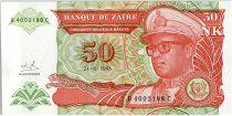 Zaire 50 Nvx Makuta, Pdt Mobutu - Traditional Fishing - 1993