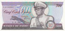 Zaire 500 Zaires - Presidente Sese Seko Mobutu - Puente - 1985