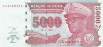 Zaire 5000 Nvx Zaires Zaires, Pdt Mobutu, leopard - Face value - 1955