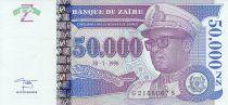 Zaire 50000 Nvx Zaires -  Presidente Sese Seko Mobutu - Valor facial  - 1996