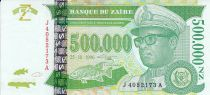 Zaire 500000 Nvx Zaires -  Presidente Sese Seko Mobutu - Familia en una canoa  - 1996