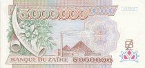 Zaïre 5000000 Zaires - Président Sese Seko Mobutu - Pyramides - 1992