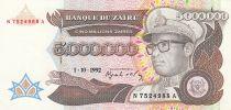 Zaire 5000000 Zaires 1992 - President Sese Seko Mobutu, factory