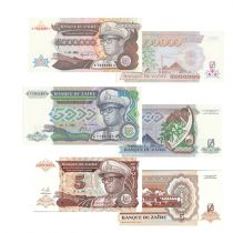 Zaire Set of 3 banknotes from Zaïre -  (1988 - 1993)