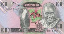 Zambia 1 Kwacha Pres K. Kaunda - Workers cotton