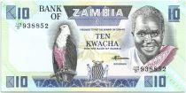 Zambia 10 Kwacha Pres K. Kaunda - Bank (1986-1988)
