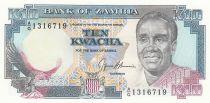 Zambia 10 Kwacha Pres. K. Kaunda - Building ND - 1991