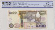 Zambia 100 Kwacha Aigle - Buffle - 2012 - PCGS 67 OPQ