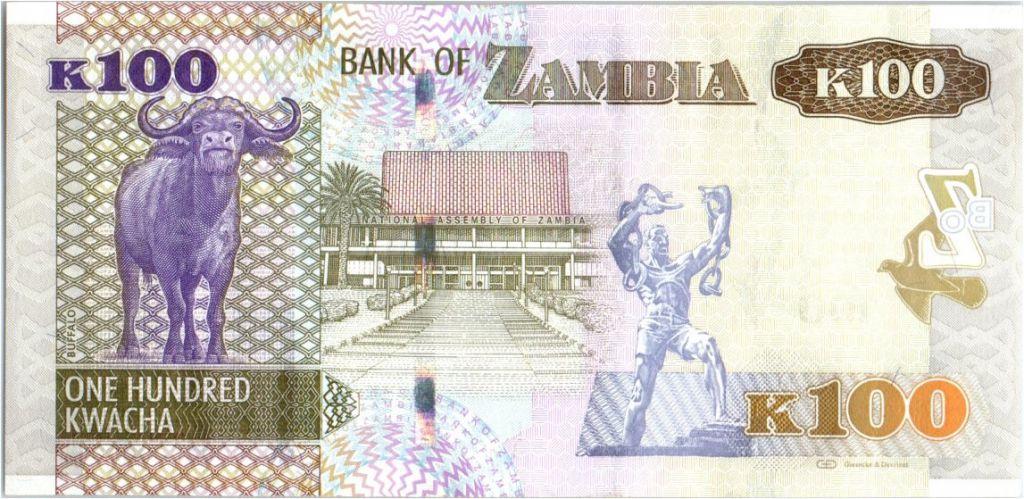 Zambia 100 Kwacha Eagle - Buffalo - 2012