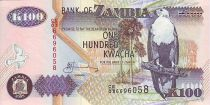 Zambia 100 Kwacha Eagle - Waterfall 2005