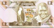 Zambia 2 Kwacha Pres K. Kaunda - school buidling (1986-1988)
