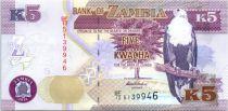 Zambia 5 Kwacha Eagle - Lion - 2014