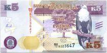 Zambia 5 Kwacha Eagle - Lion 2015