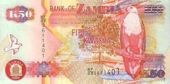Zambia 50 Kwacha Eagle - Copper refining 2006