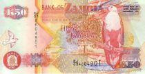 Zambia 50 Kwacha Eagle - Copper refining 2007