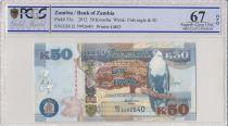 Zambia 50 Kwacha Eagle - Leopard - 2012 - PCGS 67 OPQ