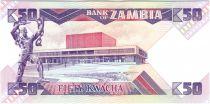 Zambia 50 Kwacha Pres K. Kaunda - chainbreaker statue (1986-1988)