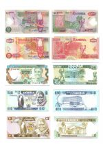 Zambia Set of 5 banknotes from Zambia - (1986- 2006)