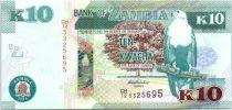 Zambie 10 Kwacha Aigle - Porc Epic - 2014