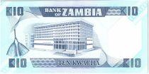 Zambie 10 Kwacha Pres K. Kaunda - Banque (1986-1988)
