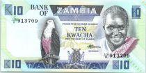 Zambie 10 Kwacha Pres K. Kaunda - récolte- 1988