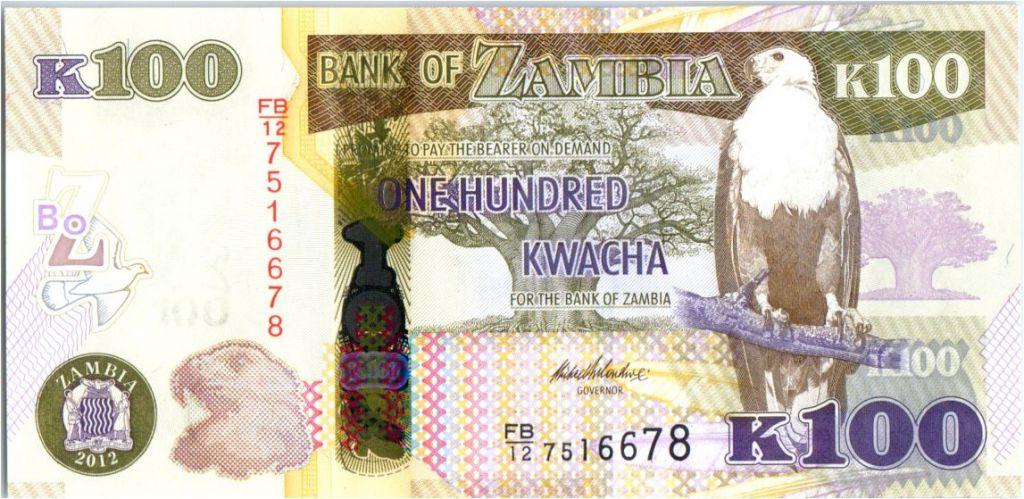 Zambie 100 Kwacha Aigle - Buffle - 2012