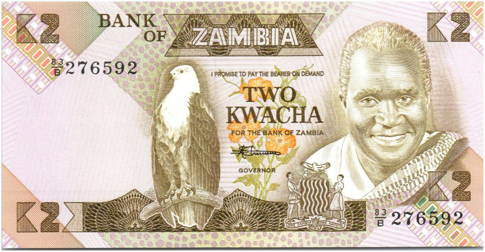 Zambie 2 Kwacha Prés. K. Kaunda - Ecole (1986-1988)