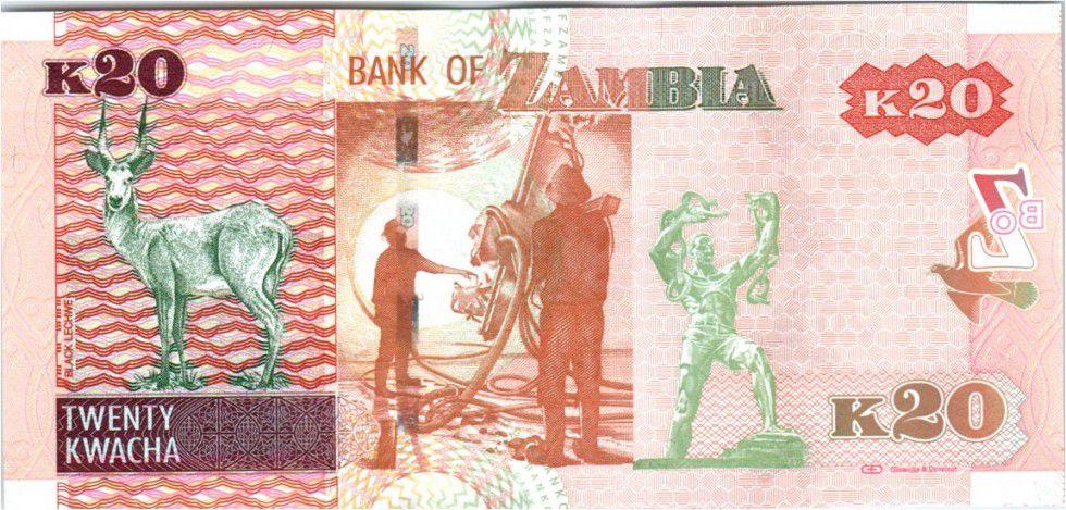 Zambie 20 Kwacha Aigle - Gazelle - 201