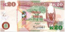 Zambie 20 Kwacha Aigle - Gazelle