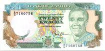 Zambie 20 Kwacha Prés. K. Kaunda - Batiment ND - 1991