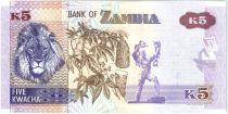 Zambie 5 Kwacha Aigle - Lion 2015